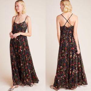 Anthropologie Massima Pleated Maxi Dress